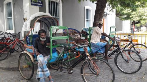 Pedicabs at White Town, Pondi